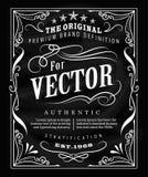 Antykwarskiej etykietki typografii rocznika ramy blackboard plakatowy projekt Zdjęcie Stock