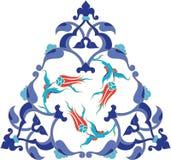 antykwarskiej illustrat ottoman płytki tradycyjny turkish Zdjęcia Royalty Free