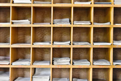 antykwarskiej tła kartoteki biblioteczny retro styl zdjęcia stock