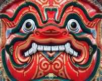 antykwarskiej twarzy gigantyczny czerwony tajlandzki Zdjęcie Stock