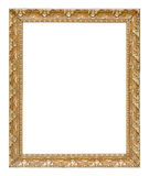 Antykwarskiej złocistej rocznik ramy luksusowa premia odizolowywał białego bac Fotografia Royalty Free