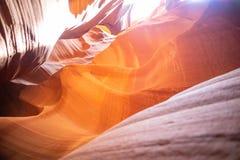 Antylopa jar blisko strony, Arizona, usa Piaskowcowe formacje na Navajo narodzie obraz royalty free