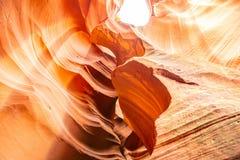 Antylopa jar blisko strony, Arizona, usa Piaskowcowe formacje na Navajo narodzie zdjęcie stock