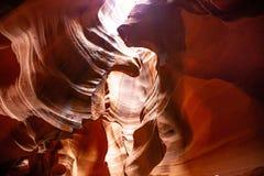Antylopa jar blisko strony, Arizona, usa Piaskowcowe formacje na Navajo narodzie fotografia stock
