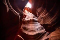 Antylopa jar blisko strony, Arizona, usa Piaskowcowe formacje na Navajo narodzie obrazy royalty free