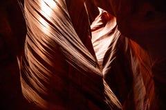 Antylopa jar blisko strony, Arizona, usa Piaskowcowe formacje na Navajo narodzie obraz stock