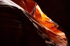 Antylopa jar blisko strony, Arizona, usa Piaskowcowe formacje na Navajo narodzie obrazy stock