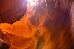 Antylopa jar blisko strony, Arizona, usa Piaskowcowe formacje na Navajo narodzie fotografia royalty free