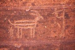 antylopy petroglifu rufowanie obrazy stock