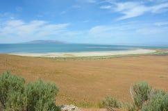 Antylopy wyspa, Wielki Salt Lake i Utah - obraz stock