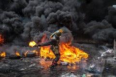 Antyrządowy protesta wybuch Ukraina fotografia royalty free