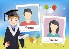 Anuário para a escola com estudante graduada ilustração do vetor
