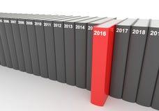 Anuários - 2016 ilustração stock