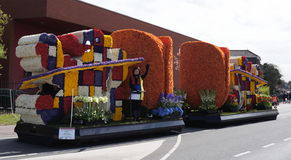 Annual flower parade, Holland Royalty Free Stock Photo