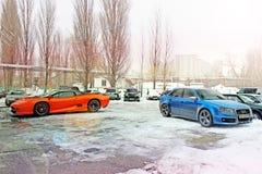 Anuary 3, 2013; Kijów, Ukraina Jaguar XJ220 obraz royalty free