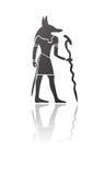 anubis神性埃及人向量 免版税库存图片