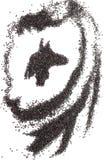 Anubis 'Hoofd stock afbeeldingen