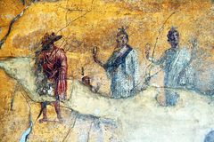 Anubis στην Πομπηία Στοκ εικόνες με δικαίωμα ελεύθερης χρήσης