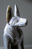 Anubis. Was a god associated with death. He was a jackal headed god, one of several, but the one gaining most popularity and importance in the Egyptian religion royalty free stock images