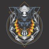 Anubis de prata da armadura ilustração do vetor