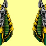 Great anubis poster royalty free illustration
