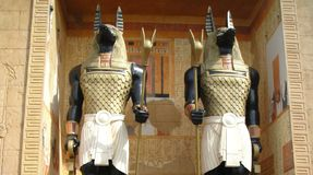 Anubis - Dio dei morti immagine stock
