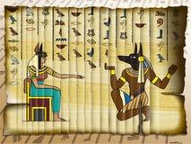 Anubis e Cleopatra immagine stock