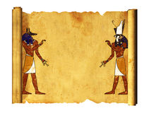 Anubis e Horus Fotografia Stock Libera da Diritti