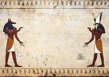 Anubis e Horus ilustração royalty free