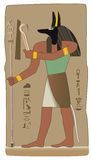 Anubis Egyptian God in vector with egyptian symbol Royalty Free Stock Photos