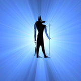 Anubis Egyptian symbol light flare Stock Image