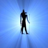 Anubis Egyptian symbol light flare Stock Image