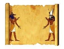 Anubis en Horus royalty-vrije illustratie