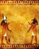 Anubis en Horus Stock Afbeeldingen