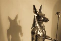 Anubis en schaduw Stock Afbeelding