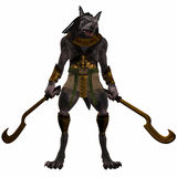 Anubis-fantasie Egyptisch Monster stock illustratie