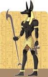 Anubis foncé grand puissant sur le fond de l'Egypte illustration libre de droits