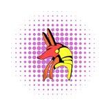 Anubis głowy ikona w komiczka stylu Zdjęcie Royalty Free