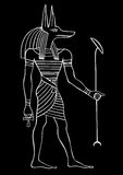 Anubis - God of ancient Egypt Royalty Free Stock Photo