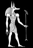 Anubis - God of ancient Egypt Royalty Free Stock Images