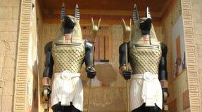 Anubis - God van de doden stock afbeelding