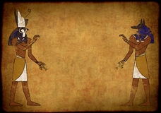 Anubis and Horus Royalty Free Stock Photo