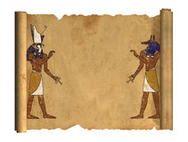 Anubis and Horus Stock Photography