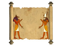 Anubis and Horus Stock Photos
