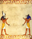Anubis and Horus Royalty Free Stock Photos