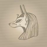 Anubis icon. Hand drawn vector illustration Stock Image