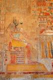 Anubis nel tempio di Hatshepsut Fotografie Stock
