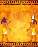 Anubis och Horus royaltyfri illustrationer