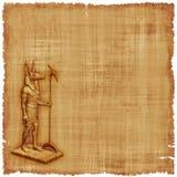 Anubis-Pergament-Hintergrund Stockbild
