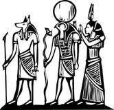 Anubis und Horus Lizenzfreie Stockfotos